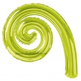 Balon Spirala Cârlionț 40 cm Verde Lime Metalizat