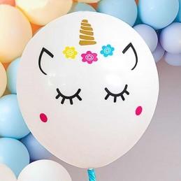Sticker Unicorn Face pentru Baloane