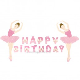 Banner Balerina Happy Birthday