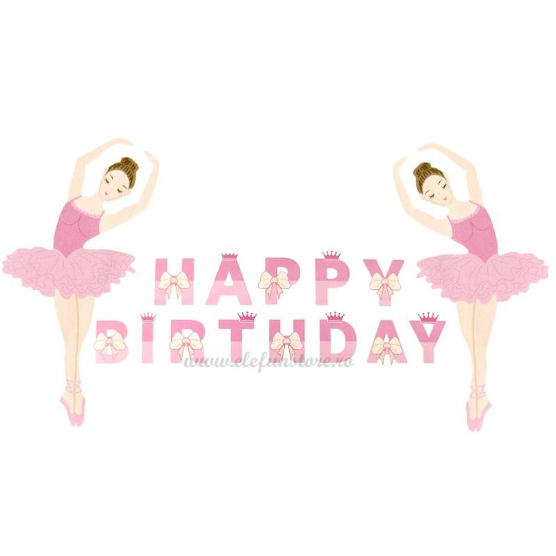 Banner Balerina Happy Birthday