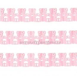 Ghirlanda cu ursuleti roz 3m