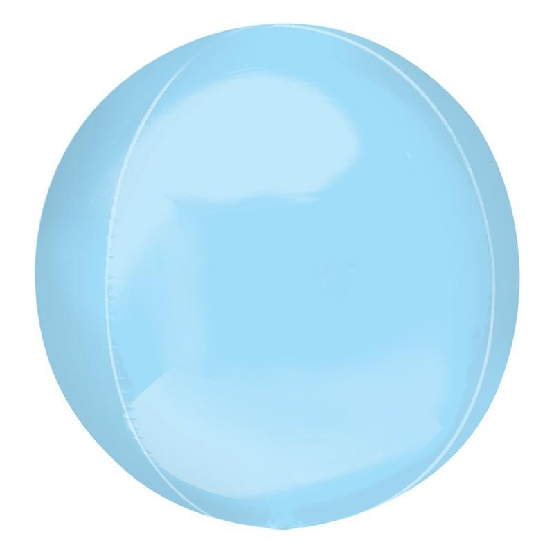 Balon Sfera 3D 60cm Bleu Metalizat