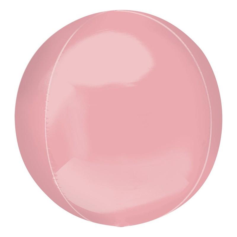 Balon Sfera 3D 60cm Roz Metalizat