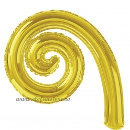 Balon Spirala Cârlionț 40 cm Auriu Metalizat