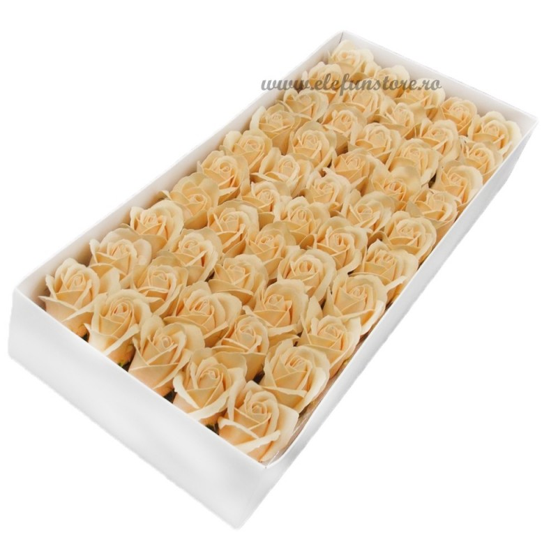 Set 50 Trandafiri de Sapun Crem