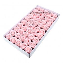 Set 50 Trandafiri de Sapun Roz Deschis