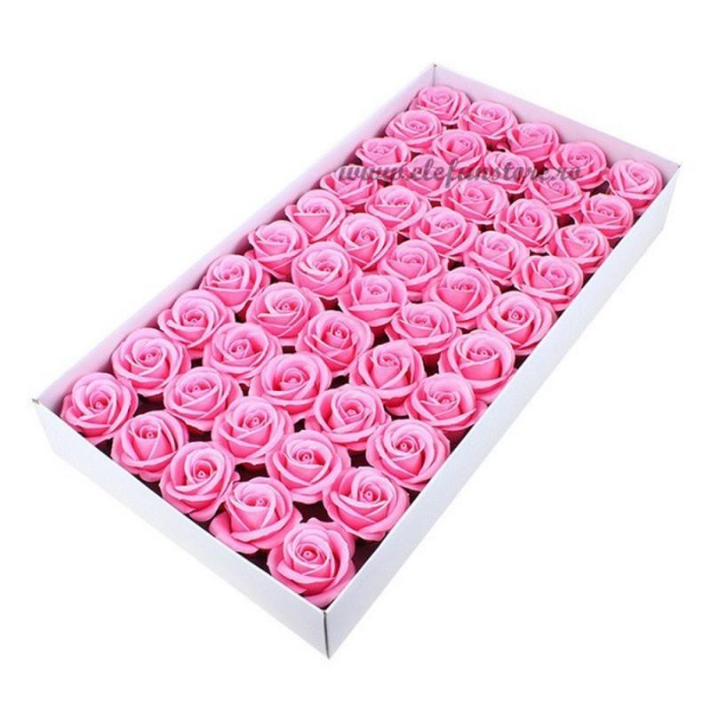 Set 50 Trandafiri de Sapun Roz