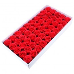 Set 50 Trandafiri de Sapun Rosii