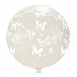 Balon Jumbo Transparent cu Fluturasi