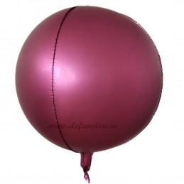 Balon Sfera 3D 60cm Burgundy Satin