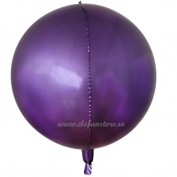 Balon Sfera 3D 60cm Mov Satin