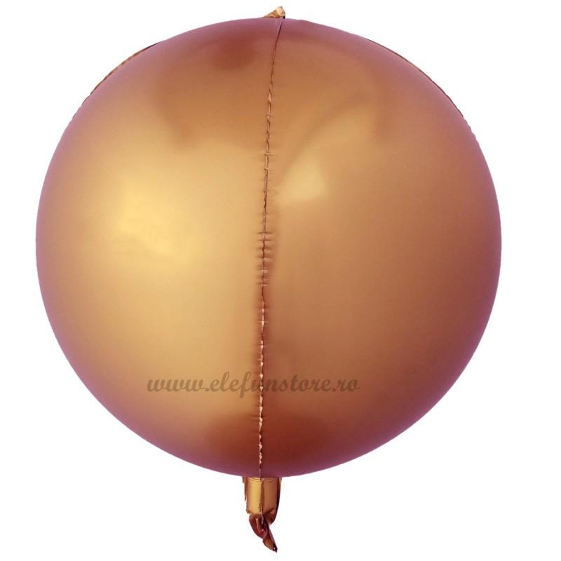 Balon Sfera 3D 60cm Rose Gold Satin