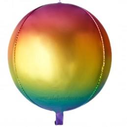 Balon Sfera 3D 60cm Degrade Curcubeu