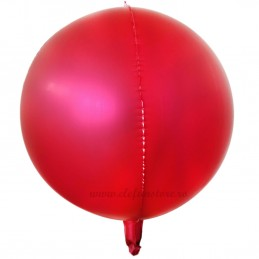 Balon Sfera 3D 60cm Rose Red Satin
