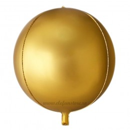 Balon Sfera 3D 25cm Auriu Satin