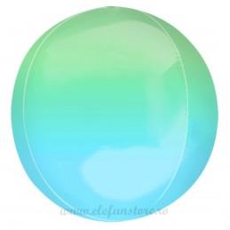 Balon Sfera 3D 60cm Degrade Verde-Albastru