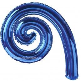 Balon Spirala Cârlionț 40 cm Albastru Metalizat
