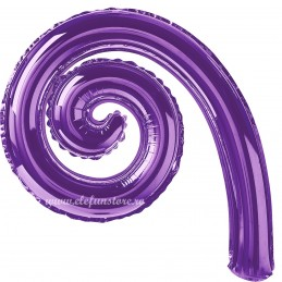 Balon Spirala Cârlionț 40 cm Mov Metalizat