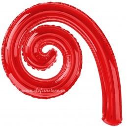 Balon Spirala Cârlionț 40 cm Rosu Metalizat