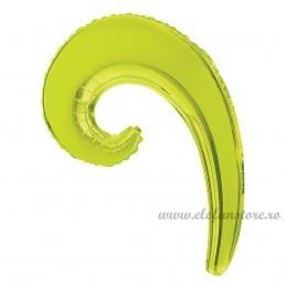 Balon Spirala 40 cm Verde Lime Metalizat