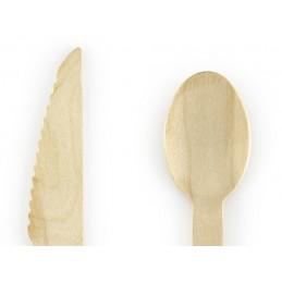 Set 18 tacamuri din lemn 16 cm