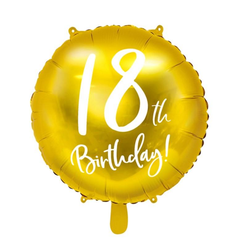 Balon Auriu 18 Birthday Majorat