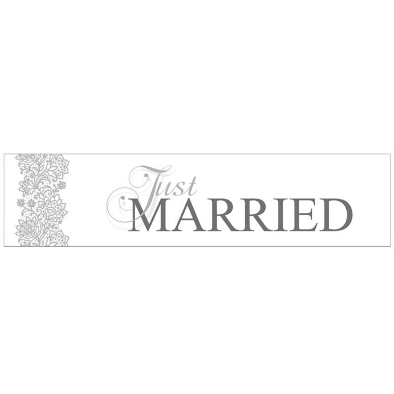 Placuta Just Married Elegant pt Masina Mirilor