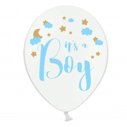 Set 5 baloane albe It's a Boy