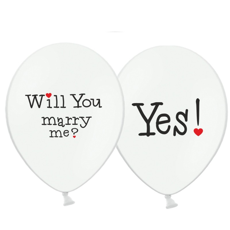 Set 5 baloane Will you marry me? Yes!
