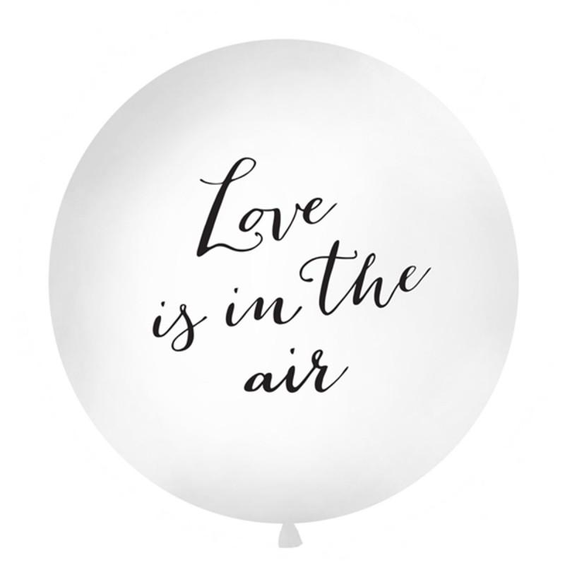 Balon Jumbo Love is in the air Negru 1m