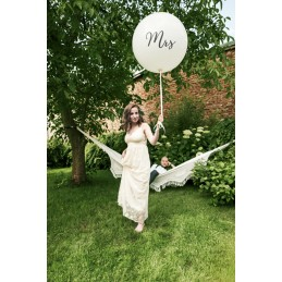 Balon Jumbo Mrs Negru 1m