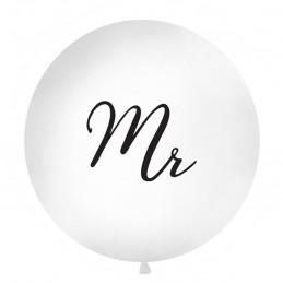 Balon Jumbo Mr Negru 1m