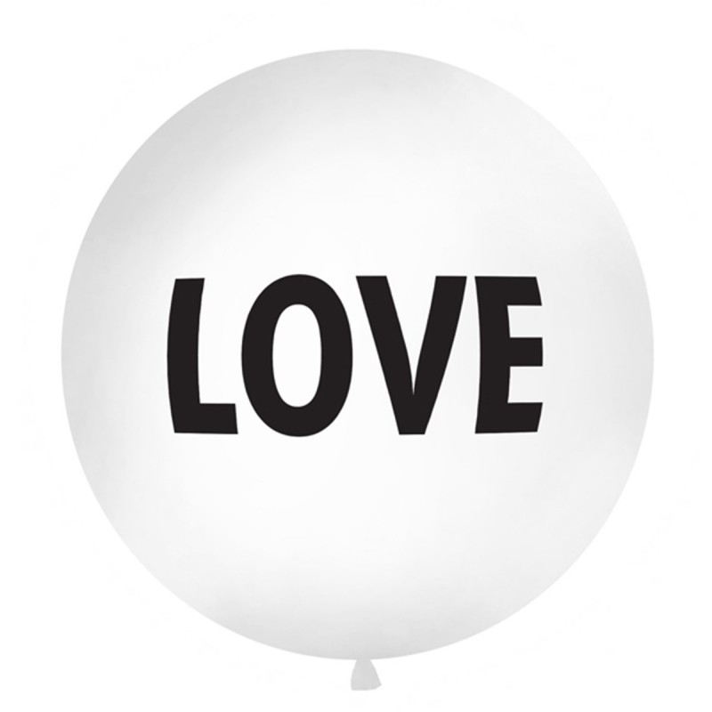 Balon Jumbo LOVE Negru 1m