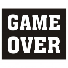 Set 2 Stickere Pantofi GAME OVER