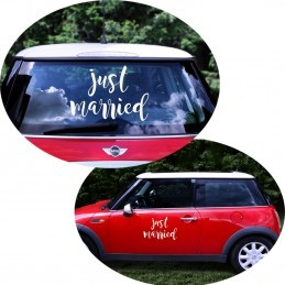 Sticker Just Married Masina Mirilor