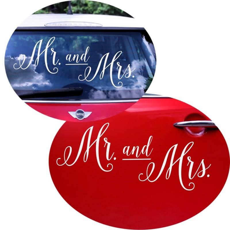 Sticker MR and MRS Masina Mirilor
