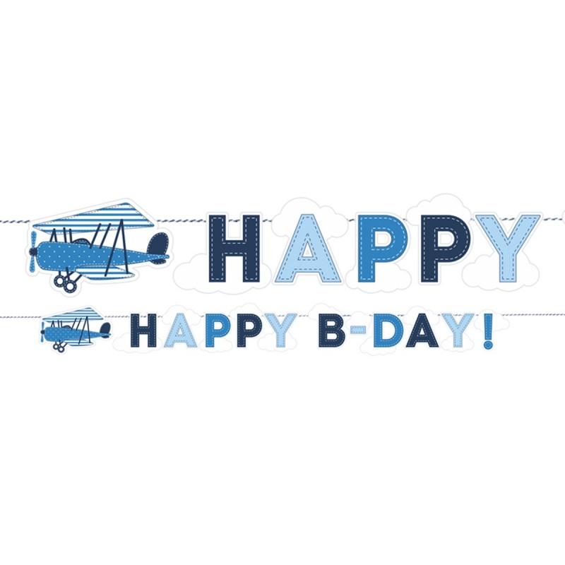 Banner Happy Birthday Aviator
