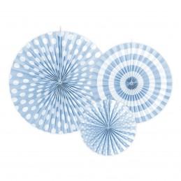 Set 3 rozete evantai baby blue