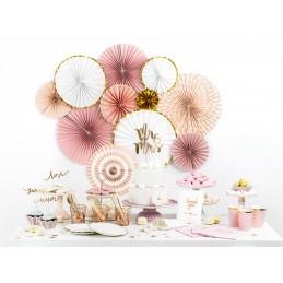 Set 3 rozete evantai baby pink