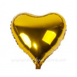 Balon Inima Aurie Metalizata 45cm
