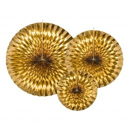 Set 3 rozete evantai aurii
