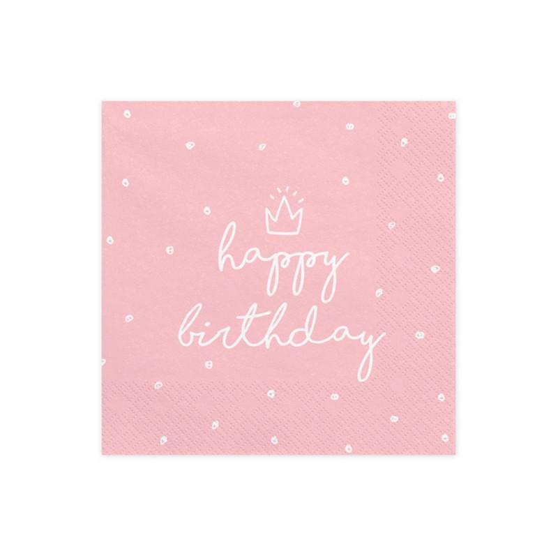 Set 20 servetele Happy Birthday Roz