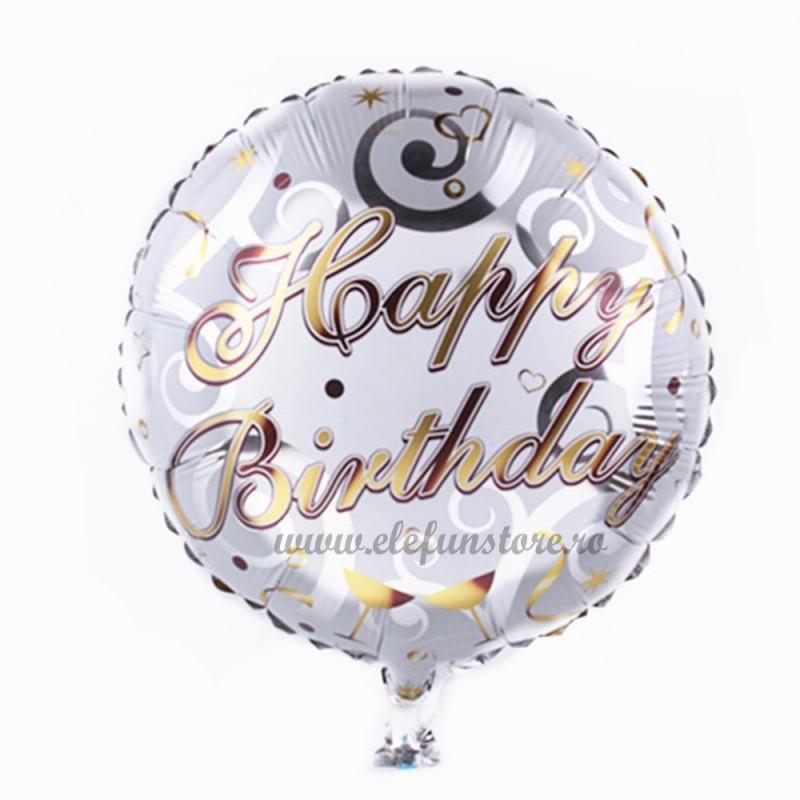 Balon Happy Birthday Gold