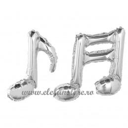 Balon Nota Muzicala Dubla Argintie