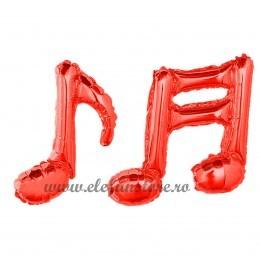 Balon Nota Muzicala Dubla Rosie