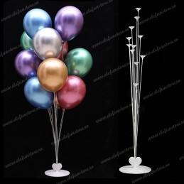 Suport Alb cu Inimioara pt 11 baloane 100cm