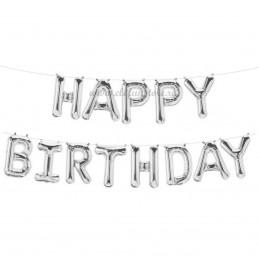 Set Litere Argintii Happy Birthday