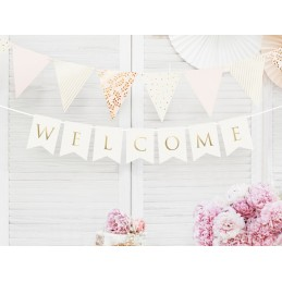 Banner Welcome White