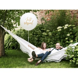 Balon Jumbo Just Married Auriu 1m