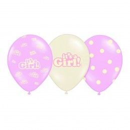 Set 5 baloane asortate It's a Girl